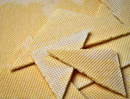 abstract food background sealing wafers for cuts Stock Photo
