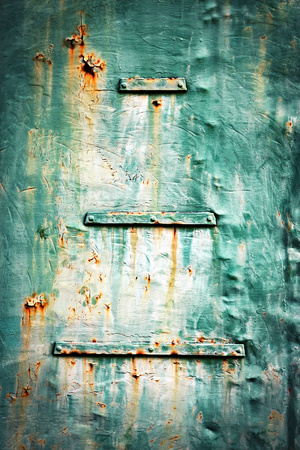 abstract background or texture Detail of an old green metal sheet Stock Photo
