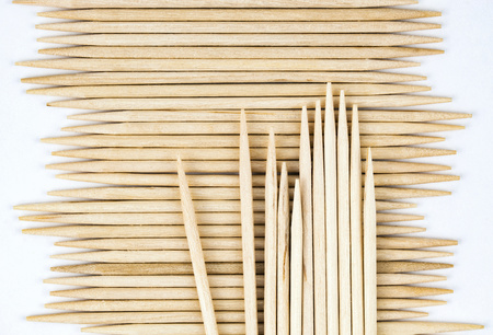 background or texture stored wooden toothpicks