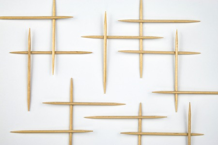 background Toothpicks distributed to the grid