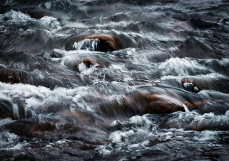 abstract background blurred dramatic detail the fierce river Stock Photo