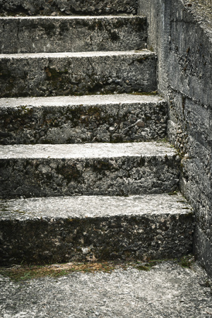 abstract background or texture Old concrete stairs Stock Photo