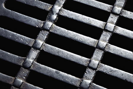 metal grate: background abstract detail sewer grates Stock Photo