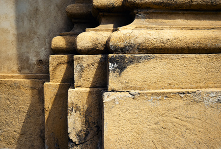 cloister: Architectural background pilar of the ancient building Stock Photo