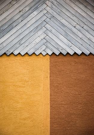Fond abstrait détail lambris en bois avec plâtre Banque d'images - 92541986