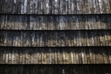 Background or texture detail of the old shingle roof 스톡 콘텐츠