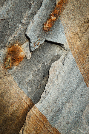 abstract background or texture detail crack gray sandstone rock Stock Photo