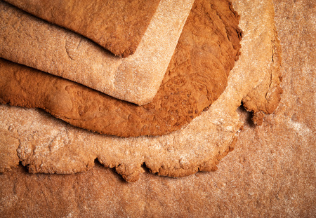 abstract background or texture baked honey dough