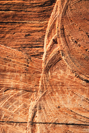 abstract background or texture of dark brown scratched wood