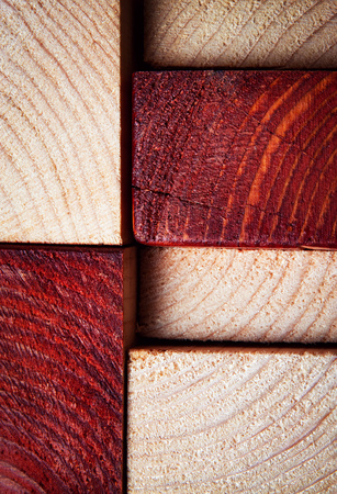 abstract background or texture sawn timber from two-color wood