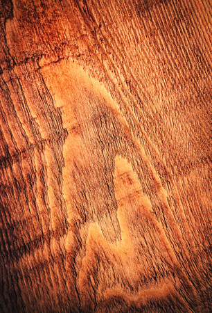 background or texture detail of old brown wood board Stock Photo
