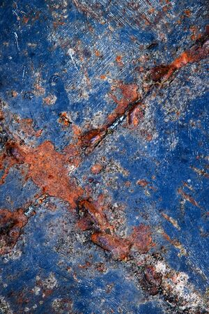 abstract background or texture detail of old blue color iron