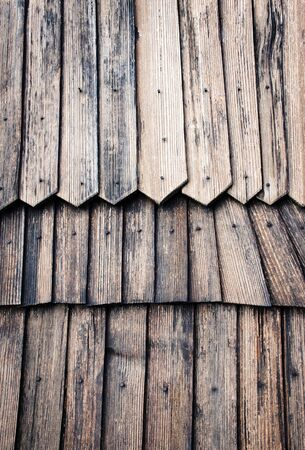 architecture background or texture Detail of wooden shingle roof
