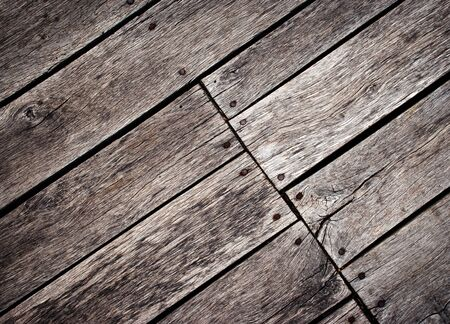 background or texture old wooden floor at an angle rotated 写真素材