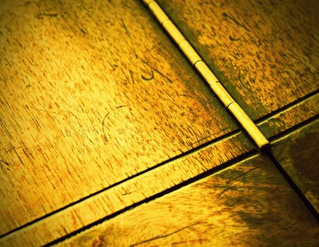 background or texture detail of old furniture hinge Foto de archivo - 131852719