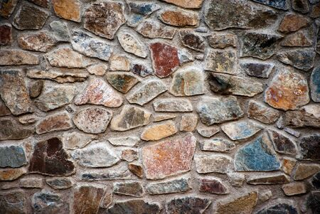 abstract background or texture wall with colorful stone blocks