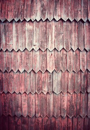 background or texture old shingle wall cladding 版權商用圖片 - 131852828