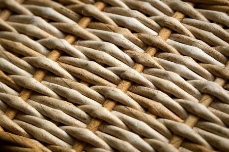 background or texture Detail of basket knitted with paper tubes