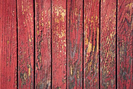 background or texture Detail of an old red painted board 写真素材