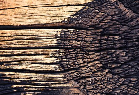 Abstract of old weathered brown wood