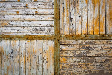 background Detail of an old gate with wood and metal