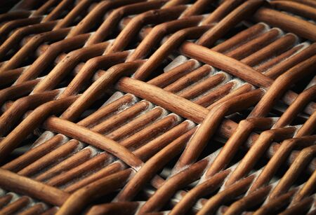 background or texture detail of wicker basket weave 写真素材