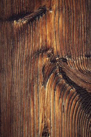 background or texture abstract detail of old dark brown wood
