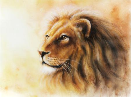 Lion painting  fractal photo