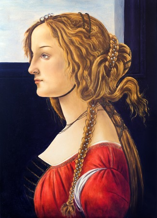 drover: old painting master Sandro Botticelli, reproduction oil painting Portrait of a Young Woman on canvas