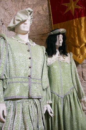 historical clothing: beautiful croatia historical clothing, bust man and woman Stock Photo