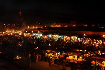 night market: Marrakech market,  Marocoo Night Market.