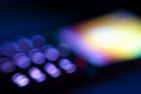 blurred vision: Abstract mobile phone display lights, blurred vision