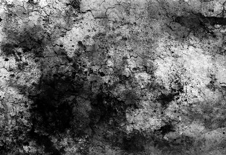 Abstract background with spots and crackle structure. Black and white.