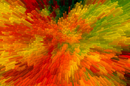 abstract color Backgrounds, painting collage, Fire fractal effect, red, yeloow and orange  collage.