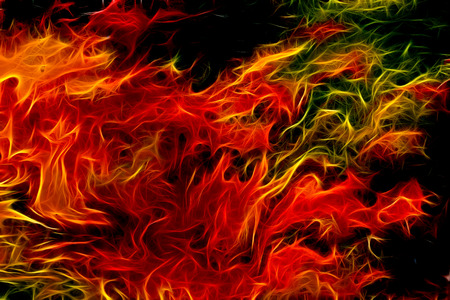 yeloow: abstract color Backgrounds, painting collage, Fire fractal effect, red, yeloow and orange collage.