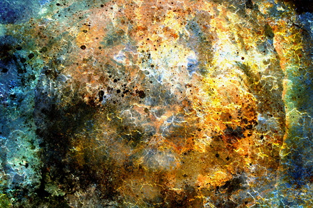 crackle: abstract color Backgrounds, collage with spots. rust structure and crackle. Stock Photo