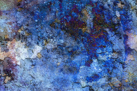 abstract color Backgrounds, collage with spots. rust structure and crackle. Stock Photo