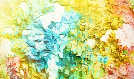 abstract color Backgrounds, painting collage with spots, rust structure and crackle