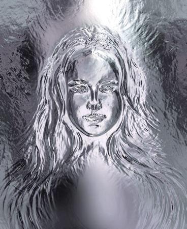 gaya: Woman goddess. Young attractive woman coated in metallic  paint  efect Stock Photo