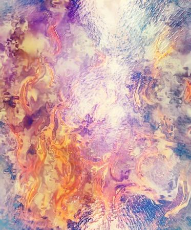 erupt: Fire flames background, LAVA structure. Earth Concept