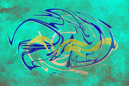 abstract background, color graffiti with grunge effect and glass effect Stock Photo