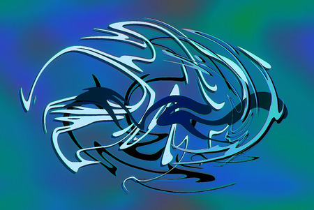 grafiti: abstract background line, color graffiti  and glass effect