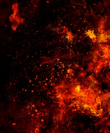 Fire flames background with desert crackle, LAVA structure. Computer collage. Earth Concept