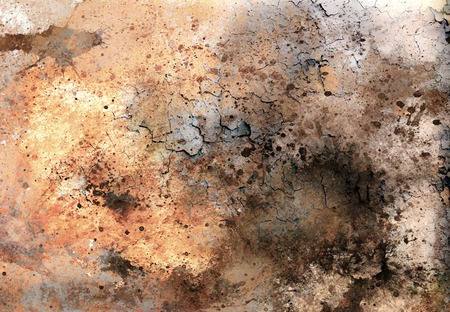 abstract color Backgrounds, painting collage with spots, rust structure and desert crackle