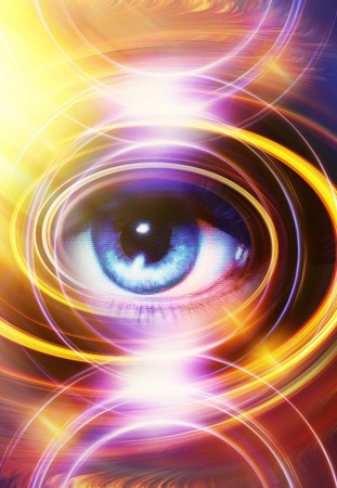 woman eye: Woman Eye and abstract color background, eye contact