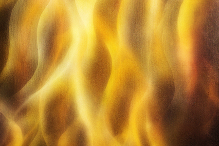airbrush: Painting Fire on black background, Airbrush painting. painting on wood Stock Photo