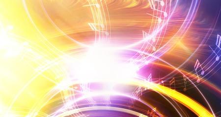 nota musical con el color de fondo y el círculo de luz abstrtact