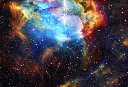 nasa: Cosmos and fractal effect, computer collage. Elements of this image furnished by NASA