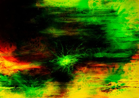 mixed media: abstract painting, mixed media grunge, Original painting and computer collage Stock Photo