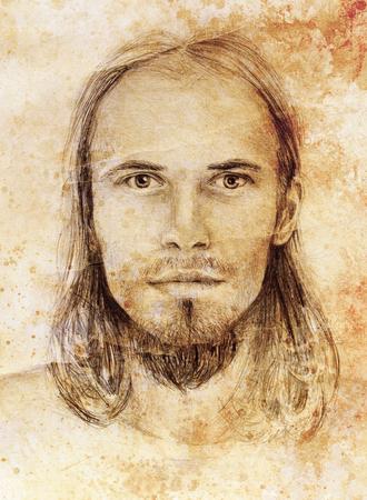 iconography: interpretation of jesus christ portrait as young man